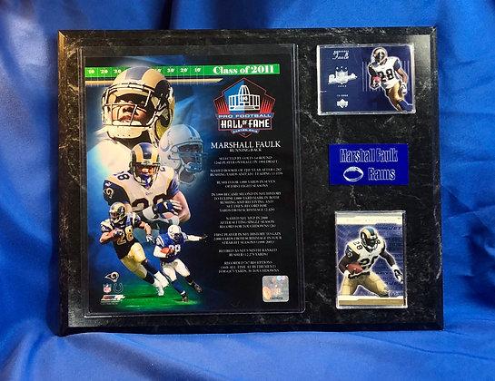 Marshall Faulk Rams 12x15 sports plaque