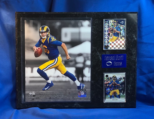Jared Goff Rams 12x15 sports plaque
