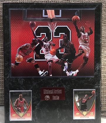 Michael Jordan 12x15 sports plaque Bulls