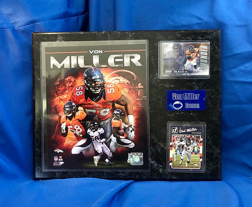 Von Miller Broncos 12x15 sports plaque