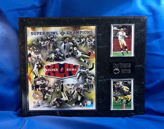 Saints Super Bowl champions 12x15 sports plaque