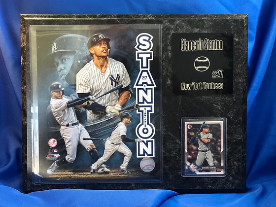 Giancarlo Stanton Yankees 12x15 sports plaque