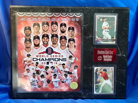 2018 World Series champions Red Sox 12x15 sports plaque