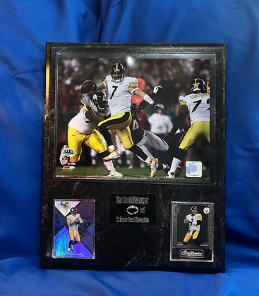 Ben Roethlisberger Steelers 12x15 sports plaque