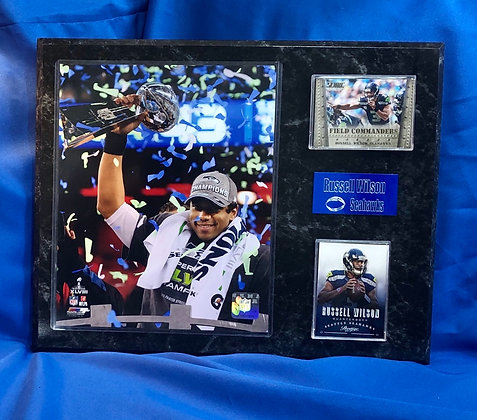 Russell Wilson Seahawks 12x15 sports plaque