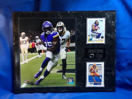 Alexander Mattison w rookie cards Vikings 12x15 sports plaque