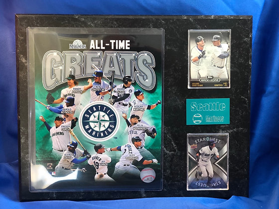 Seattle Mariners All-Time Greats Griffey 12x15 sports plaque