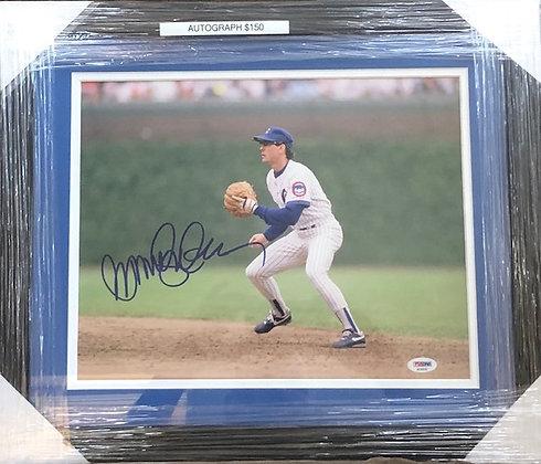 Ryne Sandberg Cubs signed frame 11x14 PSA/DNA certified