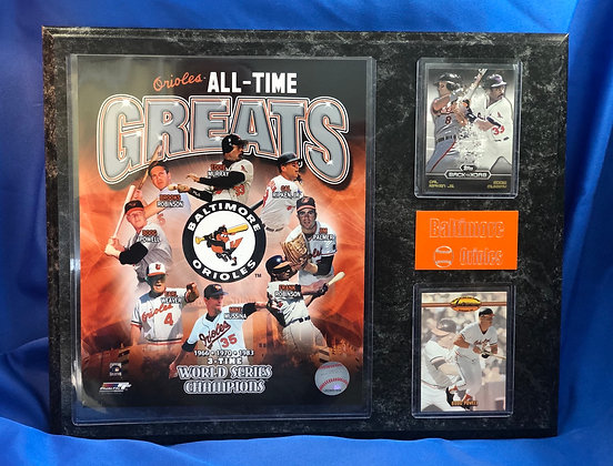 Baltimore Orioles All-Time Greats 12x15 sports plaque