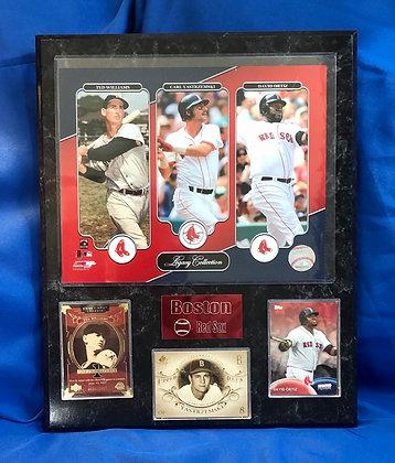 Williams Ortiz Yaztremski Red Sox 12x15 sports plaque