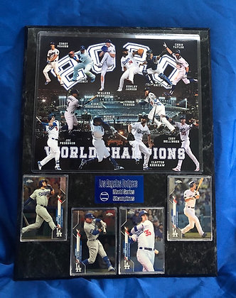 Los Angeles Dodgers 2020 World Series Champions 12x15 sports plaque