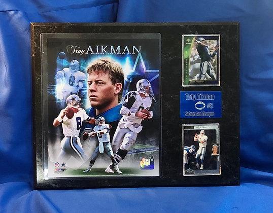 Troy Aikman Cowboys 12x15 sports plaque