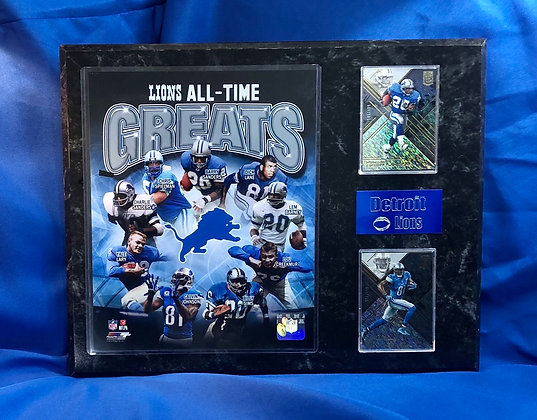 Lions All-Time Greats 12x15 sports plaque