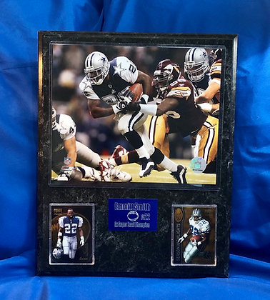 Emmitt Smith Cowboys 12x15 sports plaque