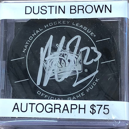 Dustin Brown Kings signed Puck PSA/DNA certified