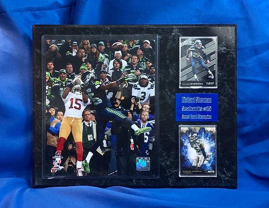 Richard Sherman Seahawks 12x15 sports plaque