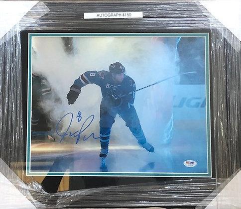 Patrick Marleau Sharks signed frame 11x14 PSA/DNA certified