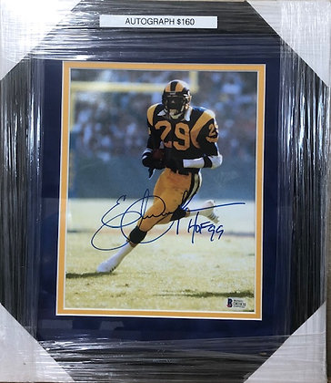 Eric Dickerson Rams signed custom frame 8x10 Beckett  certified