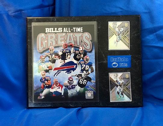 Bills All-Time Greats 12x15 sports plaque