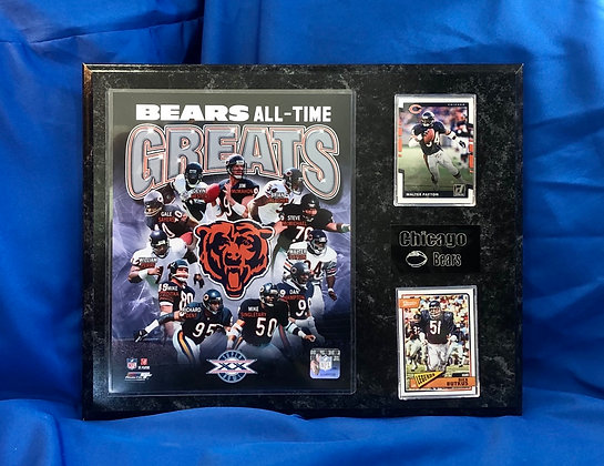Bears All-Time 12x15 sports plaque