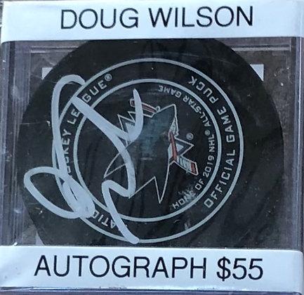 Doug Wilson Sharks signed Puck Beckett certified