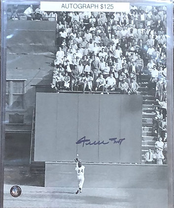 Willie Mays Giants signed 8x10 unframed Photo Mays HOLO certified