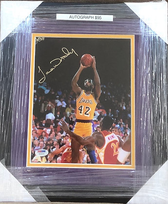James Worthy Lakers signed custom frame 8x10  PSA/DNA certified