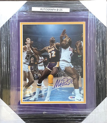 Magic Johnson Lakers signed custom frame 8x10 PSA/DNA certified