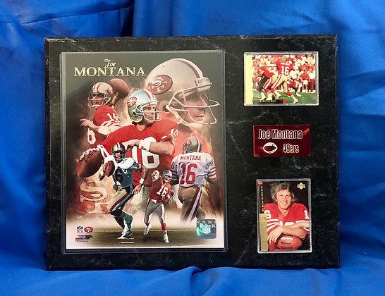 Joe Montana 49ers 12x15 sports plaque