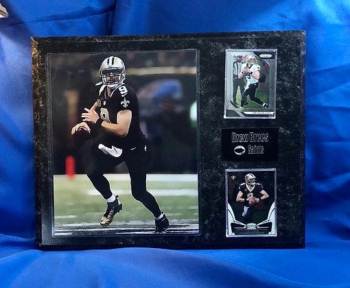 Drew Brees Saints 12x15 sports plaque
