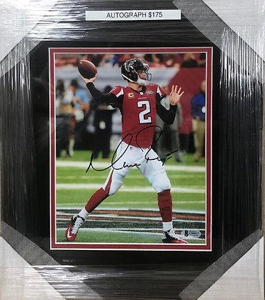 Matt Ryan Falcons signed custom frame 8x10 Beckett  certified