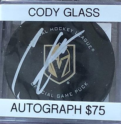 Cody Glass Vegas Knights signed Puck Beckett certified