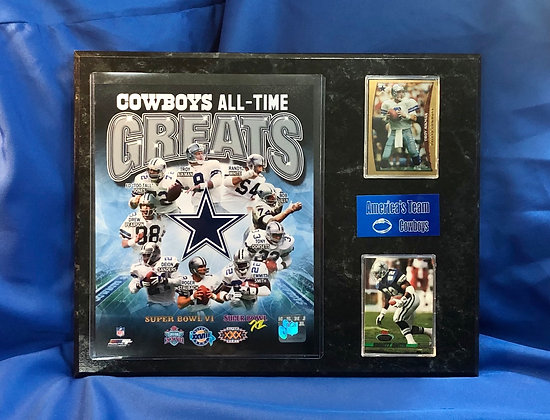 Cowboys All-Time Greats 12x15 sports plaque