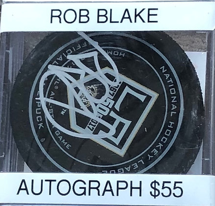 Rob Blake Kings signed Puck Beckett certified