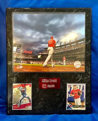 Mike Trout Angels Angels 12x15 sports plaque