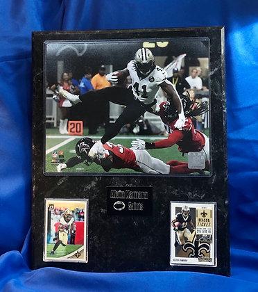 Alvin Kamara Saints 12x15 sports plaque