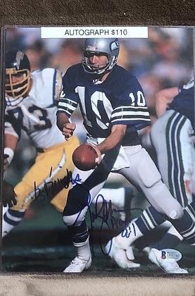 Jim Zorn Seahawks signed 8x10 unframed Photo Beckett certified