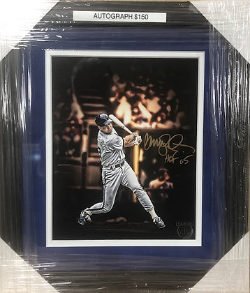 Ryne Sandberg Cubs signed custom frame 8x10 VIP certified