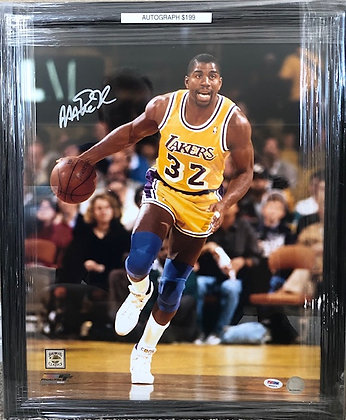 Magic Johnson Lakers signed 16x20 PSA/DNA certified