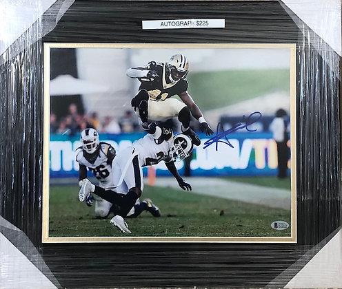 Alvin Kamara Saints signed frame 11x14 Beckett certified
