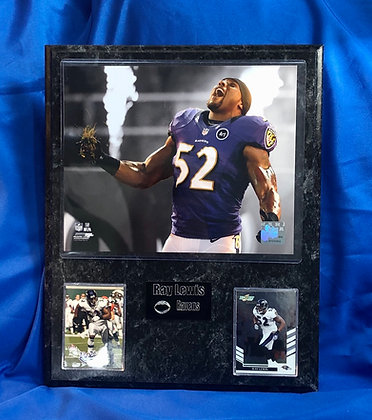 Ray Lewis Ravens 12x15 sports plaque