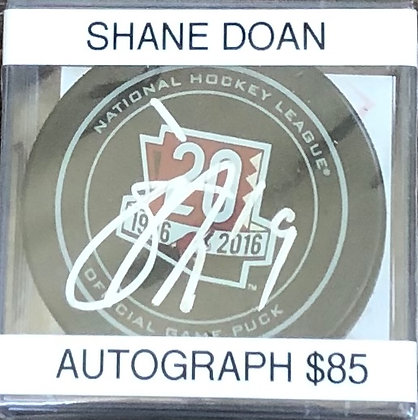 Shane Doan Coyotes signed Puck Beckett certified