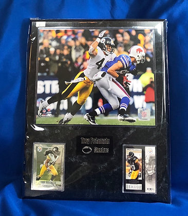Troy Polamalu 12x15 sport plaque Steelers