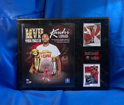 Kawhi Leonard raptors mvp 12x15 sports plaque