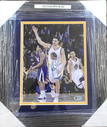 Clay Thompson Warriors signed custom frame 8x10  Beckett  certified