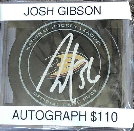 John Gibson Ducks signed Puck PSA/DNA certified