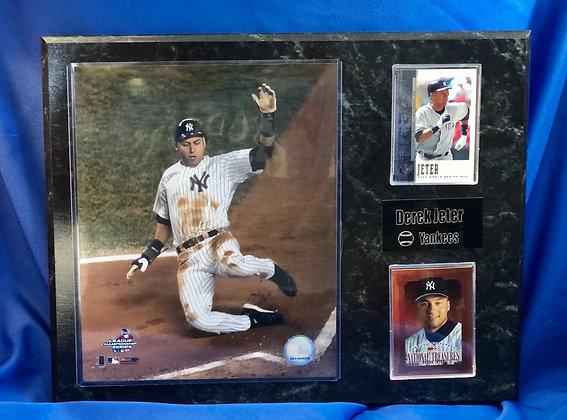 Derek Jeter Yankees 12x15 sports plaque