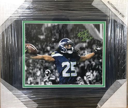 Richard Sherman Seahawks signed custom frame 8x10 Sherman HOLO certified