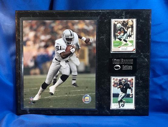 Tim Brown Raiders 12x15 sports plaque