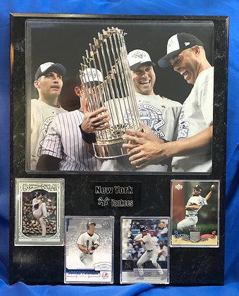 Yankees Core 4 Petite Posada Jeter Rivera 12x15 sports plaque